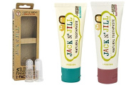 Baby Finger Toothbrush and Fruity Jack N Jill Natural Organic Toothpaste