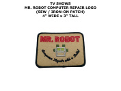 Mr. Robot Computer Repair TV Show DIY Embroidered Sew or Iron-on Applique Patch Outlander Gear