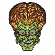 Retro-a-go-go Mars Attacks Alien Head Embroidered Iron on Patch