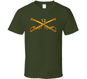 SMALL - Army - 12th Cavalry Branch wo Txt - Military Green