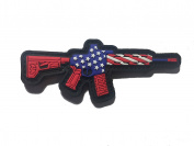 The FREEDOM Tactical AR-15 Patriot - PVC/RUBBER Morale patch 8.3cm x 5.1cm