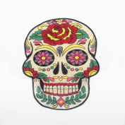 Big Colourful Classic Skull Dead DIY Clothes Patch Skeleton Embroidered Patches Iron On Fabric Badges Sew On Cloth Applique(1pc)