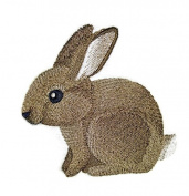 """Nature weaved in threads, Amazing Baby Animal Kingdom [Baby Bunny] [Custom and Unique] Embroidered Iron on/Sew patch [4.""""4""""] [Made in USA]"""