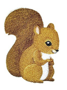 Nature weaved in threads, Amazing Baby Animal Kingdom [Squirrel] [Custom and Unique] Embroidered Iron on/Sew patch [11cm 8.2cm ] [Made in USA]
