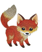 """Nature weaved in threads, Amazing Baby Animal Kingdom [Fox] [Custom and Unique] Embroidered Iron on/Sew patch [4.62""""4""""] [Made in USA]"""