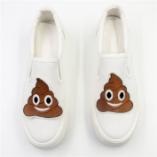 2pcs/pair Cute Cartoon Faeces Patch Embroidered DIY Patches, Cute Applique Sew Iron on Kids Craft Patch for Bags Jackets Jeans Clothes(7.1cm x 7.6cm )