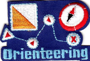"""""""ORIENTEERING"""" IRON ON EMBROIDERED PATCH-HOBBY-COMPASS-CAMPING-HIKE,OUTDOORS"""