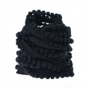 Yalulu 10 Yards Mini Pom Pom Trim Ball Fringe Ribbon Tassel DIY Sewing Accessory Lace For Home Party Decoration,1cm Width