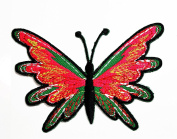 HHO Colourful Butterfly Wild Animal Punk Rockabilly Hippie Patch Embroidered DIY Patches, Cute Applique Sew Iron on Kids Craft Patch for Bags Jackets Jeans Clothes