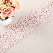 9CM Width Europe Top Crown trims pattern Inelastic Embroidery Trims,Curtain Tablecloth Slipcover Bridal DIY Clothing/Accessories.(4 yards in one package)