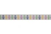 15mm Bowtique Jelly Sweets Print Grosgrain Ribbon 5m Pastel - per 5 metre roll