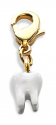 Tooth Charm Dangle in Gold