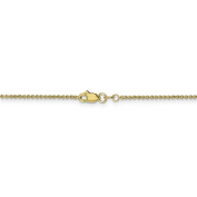 10 Inch 10k Yellow Gold 1.5 mm Cable Chain Anklet - 10 Inch