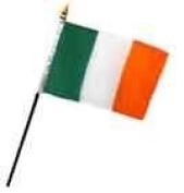 Ireland Irish 10cm x 15cm Flag Desk Table Stick