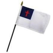 Wholesale Lot of 12 Christian 10cm x 15cm Desk Table Stick Flag