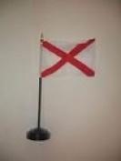 Alabama State Flag 10cm x 15cm Desk Set Table Stick Black Base
