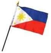 Philippines 10cm x 15cm Flag Desk Table Stick