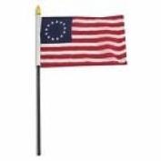 Historical Betsy Ross Flag 10cm x 15cm Desk Table Stick