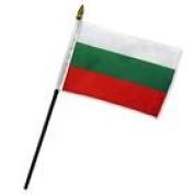 Bulgaria 10cm x 15cm Flag Desk Table Stick