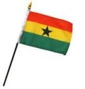 Ghana 10cm x 15cm Flag Desk Table Stick