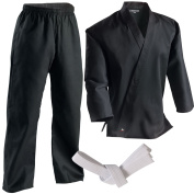 Century 210ml Middleweight Student Uniform with Elastic Pant - Black