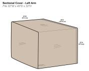 Protective Covers Inc. Modular Sectional Sofa Cover, Left Arm Piece, 80cm W x 100cm D x 80cm H, Tan