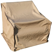 SORARA 1 Seat Sofa Cover Outdoor Lounge Porch Furniture Cover, Water Resistant, Brown