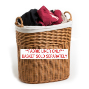 The Basket Lady Fabric Liner for Tall Narrow Tote Basket (LINER ONLY), L