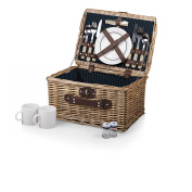 Picnic Time 'Catalina' English Style Picnic Basket with Service for Two, Dahlia Collection