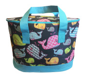 DandyLines Extra Large Fashion Insulated Cooler Picnic Beach Tote Bag