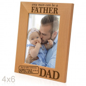 Kate Posh - Any man can be a FATHER, but it takes someone SPECIAL to be a DAD - Engraved Natural Wood Picture Frame - Father's Day Gifts, Father of the Groom, Father of the Bride