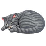 TideTex Grey Cute Cat Rug Pad Cartoon Bathroom Area Rug Non-slip Bedroom Rug Bedside Rug Washable Durable Door Mat Floormat