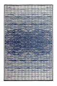 Fab Habitat Reversible, Indoor/ Outdoor Weather Resistant Floor Mat/Rug - Brooklyn - Blue