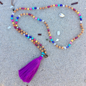 Chakra Necklace Yoga Mala Beads - Rainbow Chakra the Spirit for Yoga - Gifts for Her Gifts for Mom - Jewellery For Prayer and Positive Affirmations - Best Mantra Guide For Stress And Anxiety - Namaste