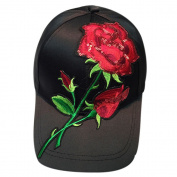Summer Hat,Elaco Unisex Snapback Women Applique Floral Baseball Cap Men Hip Hop Flat Hat