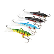 A-SZCXTOP 4pcs Ice Jig Fishing Lures Lifelike Swimbait Artificial Sinking Bait with Strong Hooks Bass Bait