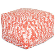 Majestic Home Goods Towers Ottoman, Large, Orange