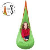 Sorbus Kids Pod Swing Chair Nook - Hanging Seat Hammock Nest for Indoor and Outdoor Use – Great for Children, All Accessories Included