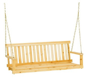 Jack Post Jennings Traditional 1.2m Swing Seat with Chains in Unfinished Cypress