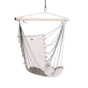 Boshen Hammock Hanging Chair Porch Swing Seat for Garden Patio Yard Indoor Outdoor Leisure Max to 110kg