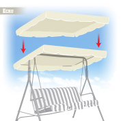 BenefitUSA Patio Outdoor 200cm x 110cm Swing Canopy Replacement Porch Top Cover Seat Furniture