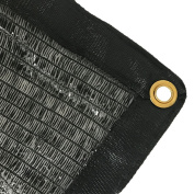 EasyShade 50% Black Shade Cloth Taped Edge with Grommets UV 3.7m x 6.1m