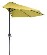 2.7m Patio LED Half Umbrella LED - Solar Powered by Trademark Innovations