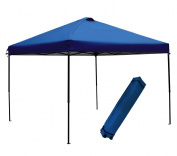 Abba Patio 3m x 3m Outdoor Pop Up Portable Shade Instant Folding Canopy with Roller Bag, Blue