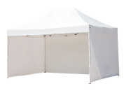Abba Patio 3m x 4.6m Pop Up Heavy Duty Instant Canopy Commercial Portable Canopy with Sidewalls Enclosure, White