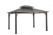 Sunjoy D-GZ840PST-E1 3m x 3.7m Galvanised Steel Hardtop Gazebo - Faux Copper Top