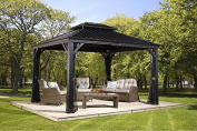 Sojag 500-7156980 Track No.77 Messina Hard Top Sun Shelter, 3m by 3.7m, Charcoal