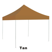 Ez pop Up instant Canopy 3mX3m Replacement Top gazebo EZ canopy Cover patio pavilion sunshade plyester-TAN