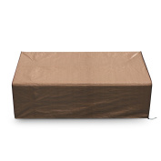 Abba Patio 3-Seat Patio Wicker/Rattan Deep Lounge Sofa Cover, Water Resistant, Brown