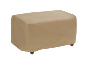 Protective Covers Weatherproof Ottoman Cover, Small, Tan, Model